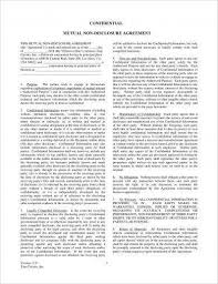 Mutual Confidentiality Agreement Adorable 44 Mutual Confidentiality Agreement Examples PDF Word