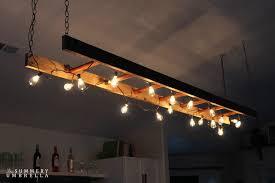 diy kitchen lighting fixtures. DIY Ladder Light Diy Kitchen Lighting Fixtures N