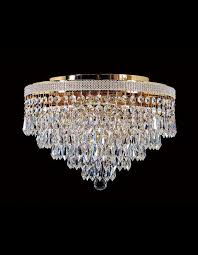 close to ceiling crystal lights by chic chandelier