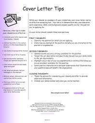 Resume Sample Tips For Writing A Cover Letter For A Job Application