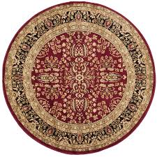 safavieh lyndhurst isphahan red black round indoor oriental area rug common 10 x