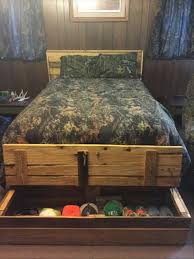 diy queen size pallet bed frame diy pallet bed with end storage box 99