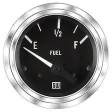 deluxe fuel level gauge p n 82111 stewart warner