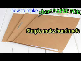 How To Make A Simple Chart Paper File Handmade Folder Youtube