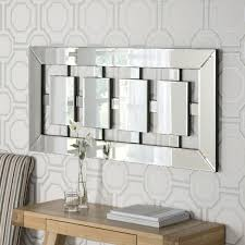 long rectangle bevelled wall mirror