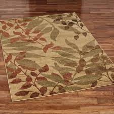 fall reflections rectangle rug multi warm