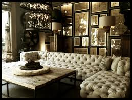 Restoration Hardware Living Room Design When Classic Meets Modernity Tufted Upholstered Sectional Sofa