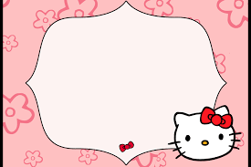 materijal za scaron tampanje hello kitty kreativnost na delu hello kitty birthday party invitation blank