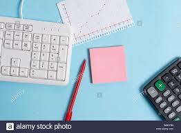 Paper Blue Desk Computer Keyboard Office Study Notebook