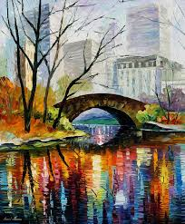 landscape painting central park by leonid afremov
