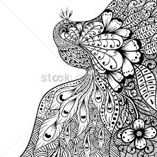 Intricate Patterns Interesting Intricate Peacock Design Vector Image 48 StockUnlimited