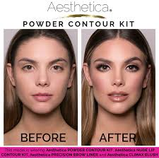 amazon aesthetica cosmetics contour and highlighting powder foundation palette contouring makeup kit easy to follow step by step instructions