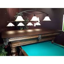 Pool table that is a dining table Oak Hammacher Schlemmer Pool Table Dining Top