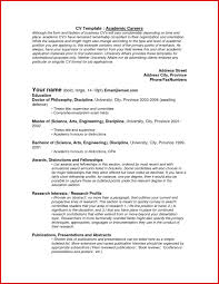 Best Of Academic Cv Template Download Wing Scuisine Resume