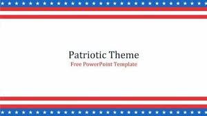 Patriotic Template For Powerpoint Download It Free And Use It In