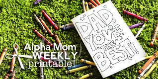 Choose from hundreds of templates, add photos and your own message. Father S Day Card Printable Coloring Sheet Alpha Mom