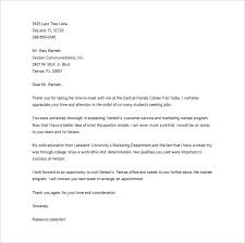 Sample Thank You Letter After Interview Human Resources Position