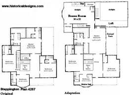 Dream House and Reality  Authentic Historical Designs LLC VF Second Floor Plans   Original and Adapted