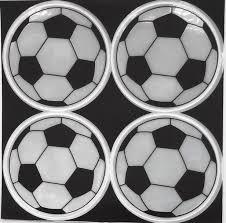 Reflexní Samolepky Odrazky Fotbalový Míč 4 Ks Stříbrný
