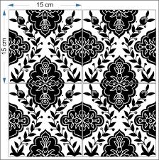 Decorative Tile Designs Decorative tiles black White Balian Tile Studio of Jerusalem 6