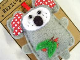 Koala - Felt Decoration Ornament - Australian Animal - Christmas ...