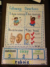 Following Directions Active Listening Character Development