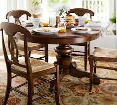 innovative dining room tables pottery barn tivoli extending pedestal