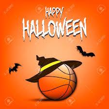 Design Basketball Happy Halloween Pattern Basketball Template Design Basketball