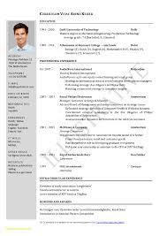 Cv Format Doc Resume Format Image Result For Two Page Sample