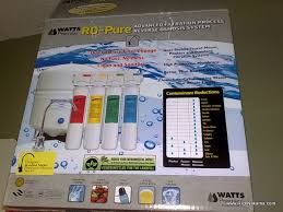 costco water filter. Review- Watts Premier RO-Pure Reverse Osmosis Drinking Water System From Costco Filter