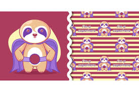 Svg offers the sweet taste of tiny file size plus excellent browser. Hand Drawn Cute Superhero Sloth For Kids Graphic By Maniacvector Creative Fabrica