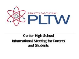 Pltw Pltw Parent Night Presentation