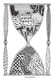 Zandloper Kleurplaten Zentangle En Tattoos