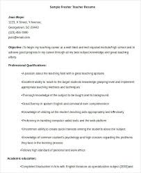 English Teacher Resume Sample Fresher Teacher Resume Format Business ...