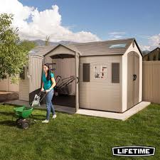 installed lifetime 15ft x 8ft 4 6 x 2 4m dual entry storage shed with