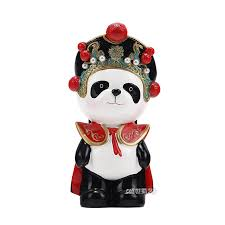 get ations eastern workers italian opera desktop ornaments cartoon panda sichuan opera face to send foreigners small gifts