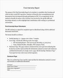 Internship Report Sample Simple 44 Internship Report Examples Samples Pdf Daily Job Report Template