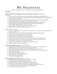 Library Resume Resume For Your Job Application