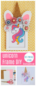 unicorn frame diy is an easy unicorn crafts idea that is done with paper crafts