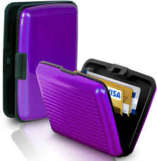 Aluma Credit Card Wallet Holder For Unisex, Purple