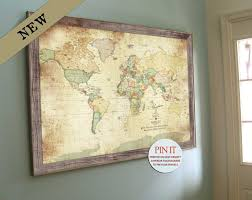 architecture framed world map with push pins modern of the personalised pin inside 9 from