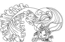 Coloring Pages Of Fairies And Mermaids Amazing Neat Design Now Stock