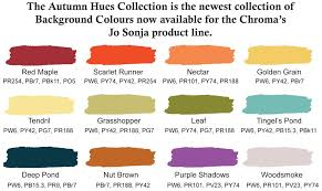 Grain Color Chart New Chromas Jo Sonja Autumn Hues Collection Colors In 2019