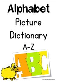 Alphabet Picture Dictionary A Z Charts Kg Primary Penmanship