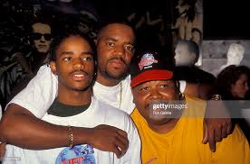 Actor Lorenz Tate, Ed Lover and Dr. Dre attending the press ...