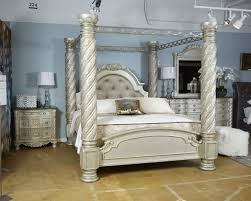 california king canopy bed. Contemporary King Cassimore  Pearl Silver KingCal King Poster Canopy To California Bed