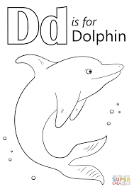 Letter D Is For Dolphin Coloring
