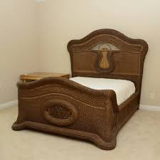 Yves Delorme Hand Woven Cane Bed from Gattle's : EBTH