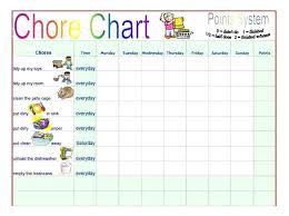 Responsibility Chart Chore List Free Template Printable My