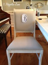 painted dining room furnitureWhite Chalk Painted Dining Room Table  Monogrammed Chairs  11
